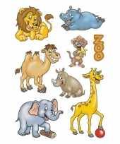 Feest 72x dierentuin dieren stickers