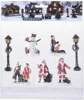 Feest 7x kerstdorp figuren poppetjes type 3