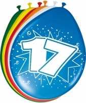 Feest 8 stuks ballonnen 17 jaar