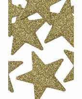 Feest 8 stuks gouden decoratie sterren 5 cm