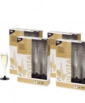 Feest 80 plastic champagne glazen