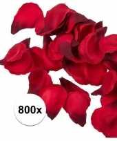Feest 800x rode strooi rozenblaadjes 3 cm