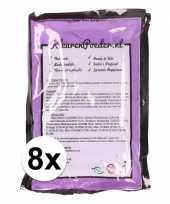 Feest 8x holi kleurpoeder paars