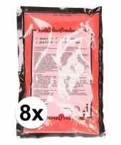 Feest 8x holi kleurpoeder rood
