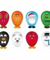 Feest 8x kerst ballonnen versieren 27 cm