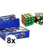 Feest 8x stuks voordelige kubus puzzels van 7 cm
