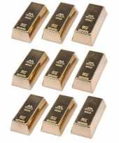 Feest 9x goudstaven magneet 6 cm