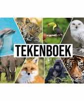 Feest a4 dieren waaier schetsboek tekenboek kleurboek schetsblok wit papier