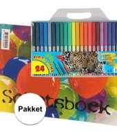 Feest a4 schetsboek inclusief viltstiften