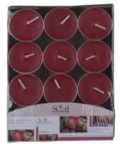 Feest aardbeien fruitgeur kaarsen 24 stuks