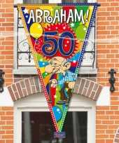 Feest abraham 50 jaar mega puntvlag