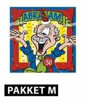 Feest abraham 50 jaar pakket met versiering