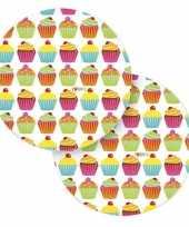 Feest acht papieren bordjes cupcake thema