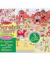 Feest agenda fruit stickers met geur