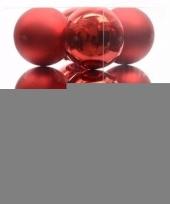 Feest ambiance christmas kerstboom decoratie kerstballen rood 12 x