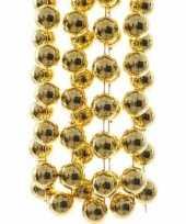 Feest ambiance christmas kerstversiering sterren grove kralen ketting goud 270 cm