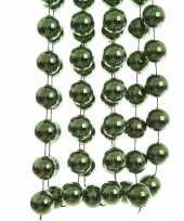 Feest ambiance christmas kerstversiering sterren grove kralen ketting groen 270 cm