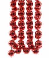 Feest ambiance christmas kerstversiering sterren grove kralen ketting rood 270 cm