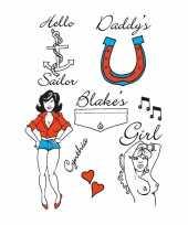 Feest amy winehouse tattoos 6 stuks
