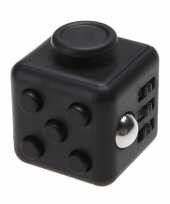 Feest anti stress kubus zwart 4 cm