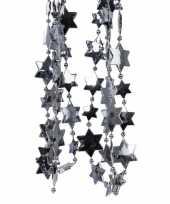 Feest antraciet kerstversiering ster kralenslinger 270 cm