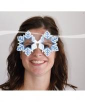 Feest apres ski party bril sneeuwvlok
