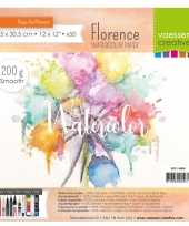 Feest aquarel papier schetsboek 50 vellen 200 gram 30 5 x 30 5 cm