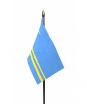 Feest aruba vlaggetje met stokje