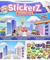 Feest autoraam stickers boek verkeer thema