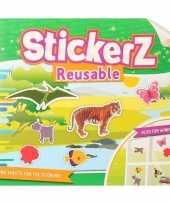 Feest autoraam stickers boek wilde dieren thema