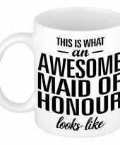 Feest awesome maid of honour cadeau mok beker voor getuige 300 ml
