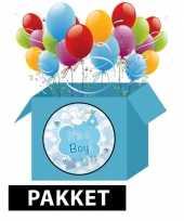 Feest baby versiering blauw pakket