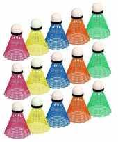 Feest badminton speel shuttles gekleurd 10157201
