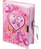 Feest ballerina dagboek met slot