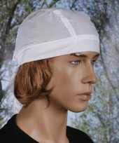 Feest bandana in de kleur wit uni 1