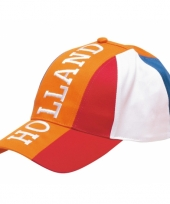 Feest baseballcap oranje holland volwassen