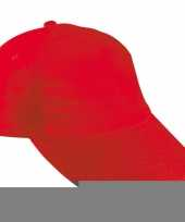 Feest baseballcapjes rood voor kinderen