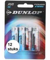 Feest batterijen r6 aa dunlop 12 stuks