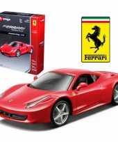 Feest bburago ferrari 458 italia race and play kit modelauto