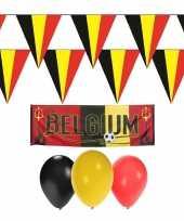 Feest belgie rode duivels supporter versiering pakket