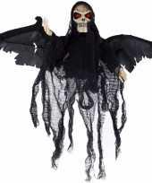 Feest bewegende skelet pop zwart met licht en geluid