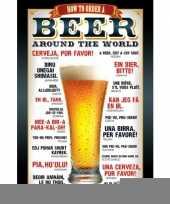 Feest bier poster
