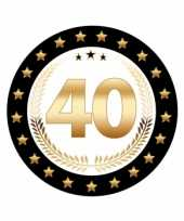 Feest bierviltjes 40 jaar robijn jubileum
