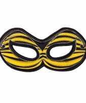Feest bijen oogmasker geel voor kinderen