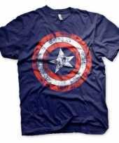Feest blauw captain america t-shirt