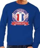 Feest blauw france drinking team sweater heren