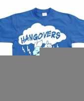 Feest blauw hangovers t-shirt