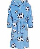 Feest blauwe badjas voetbal voor jongens