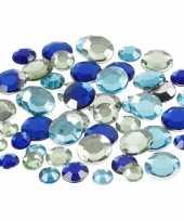 Feest blauwe diamanten stenen rond
