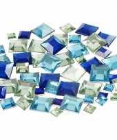 Feest blauwe diamanten stenen vierkant